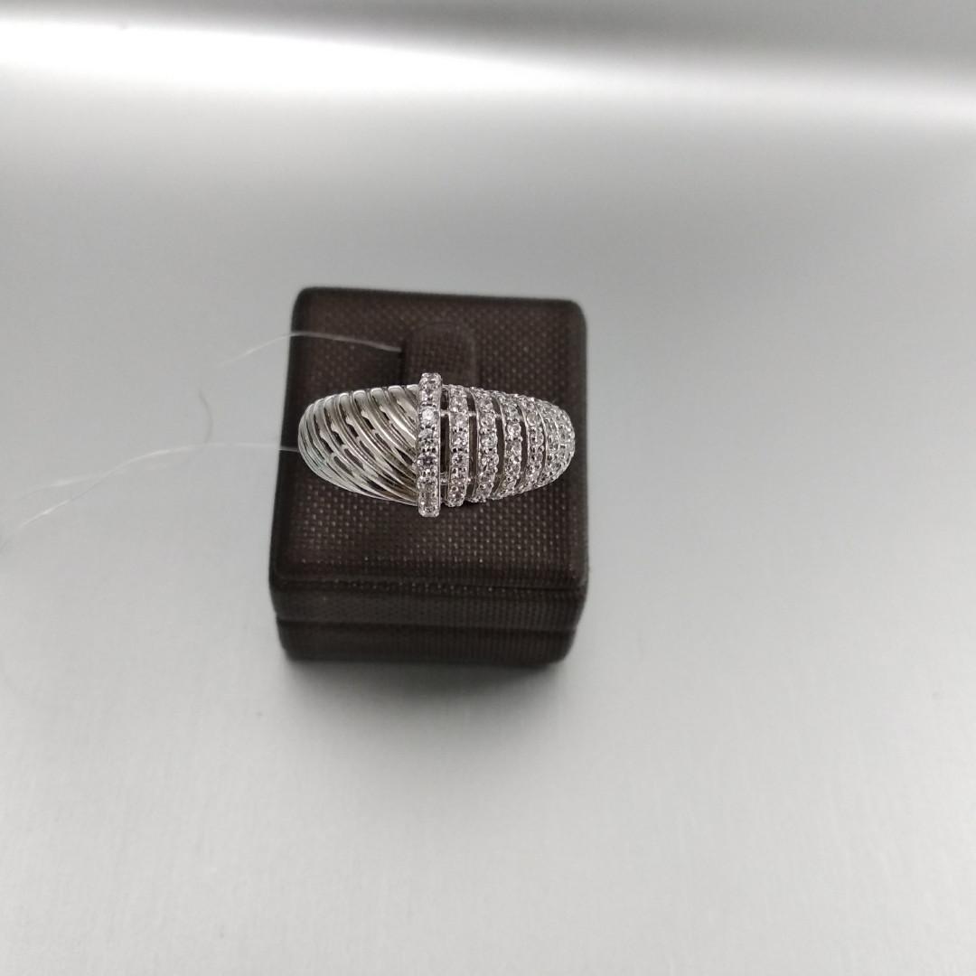 Кольцо с цирконом / 18 размер