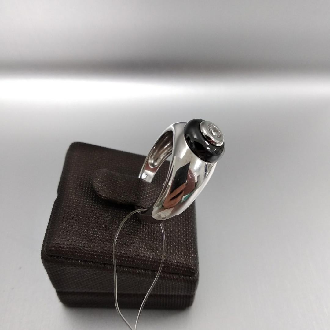 Кольцо с керамикой / 17 размер