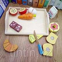 Деревянные продукты на липучке. Набор из 10 предметов, фото 3