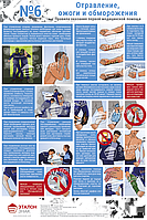 Правила оказания первой медицинской помощи ред. 2016г.(6 листов.) Лист №6 Отравление, ожоги и обморожения.