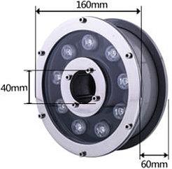 Подводные светильники для бассейнов и фонтанов 9Вт - RGB