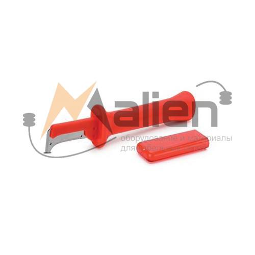 Нож электрика НЭСИ-01 МАЛИЕН с пяткой и частично изолированным лезвием