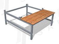 Подставка для шкафа 700.500 со скамьей, фото 2