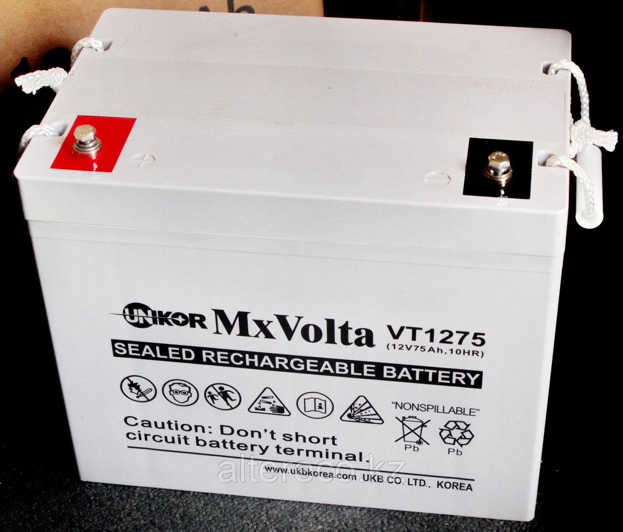 Аккумулятор Unikor MxVolta VT 1275 (12В, 75Ач)