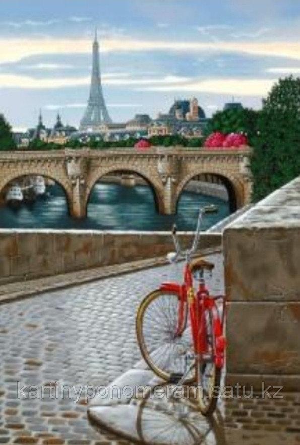 """Картина по номерам """"Красный велосипед"""""""