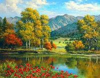 """Картина по номерам """"Озеро в горах"""""""
