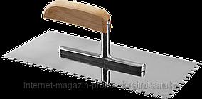 Гладилка штукатурная зубчатая 130 х 280 мм, зуб 6 х 6 мм, серия «ЭКСПЕРТ», ЗУБР