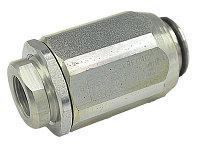 VRF02C - Дроссель с обр. клапаном, трубный монтаж, G3/8'', 25л/мин., 350бар