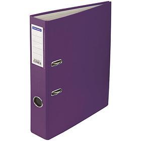 Папка-регистратор 50 мм, фиолетовая с карманом на корешке