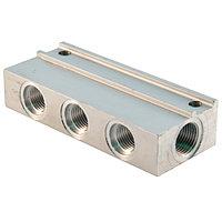 01.520.0 - Коллектор проходной односторонний, вход/выход -М12х1, 1отвод - М10х1