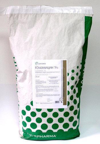 Кормовая добавка для птиц Юмамицин 1%, 25 кг