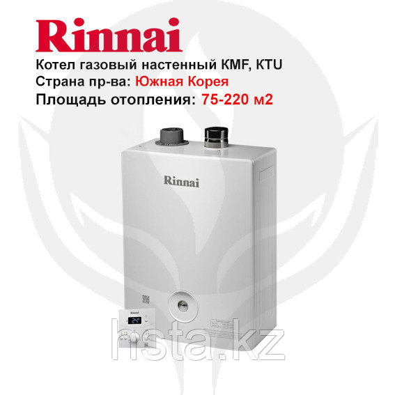 Газовый двухконтурный, настенный котел  RINNAI RBK -158 KTU