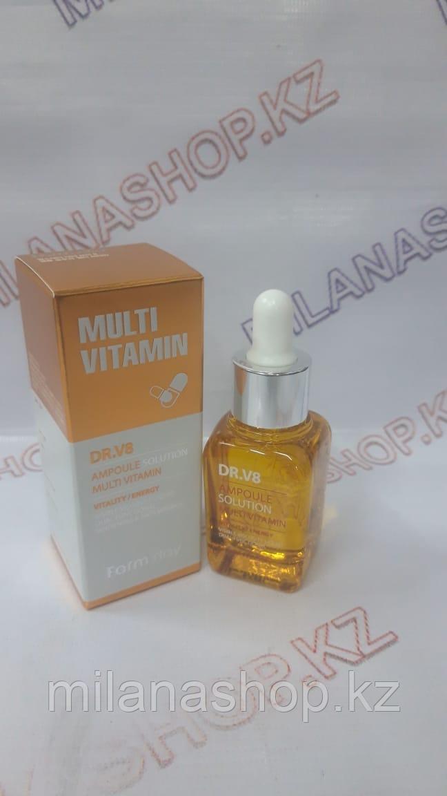 Farm Stay DR.V8 Ampoule Solution Multi Vitamin - Сыворотка Мультивитаминная 30мл