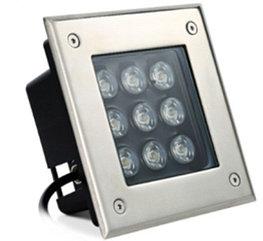Грунтовый светодиодный светильник 9Вт Теплый белый