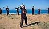 Боевые искусства нунчаки тренировочные красные, фото 2