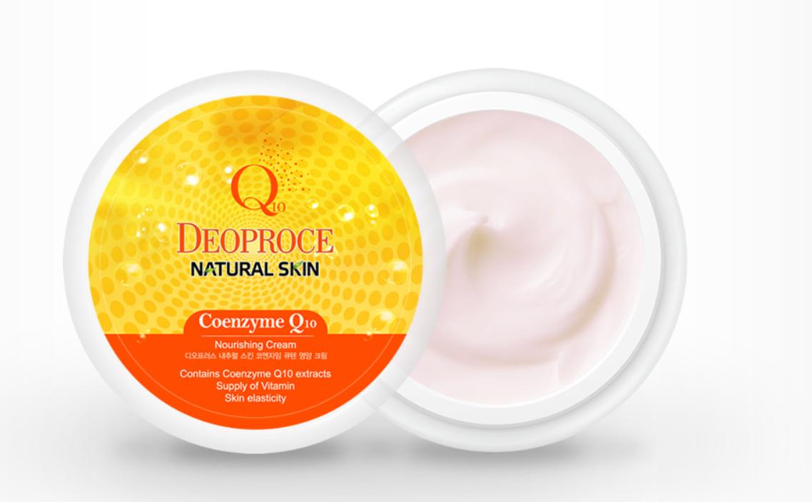 Крем для лица Deoproce Q10 Natural Skin Nourishing Cream