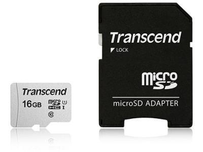 Карта памяти Transcend TS16GUSD300S-A 16Gb