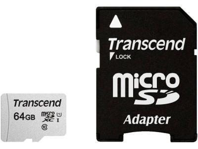 Карта памяти Transcend TS64GUSD300S-A 64Gb