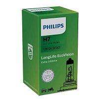 Галогенная лампа PHILIPS LONGLIFE ECOVISION H7, фото 1