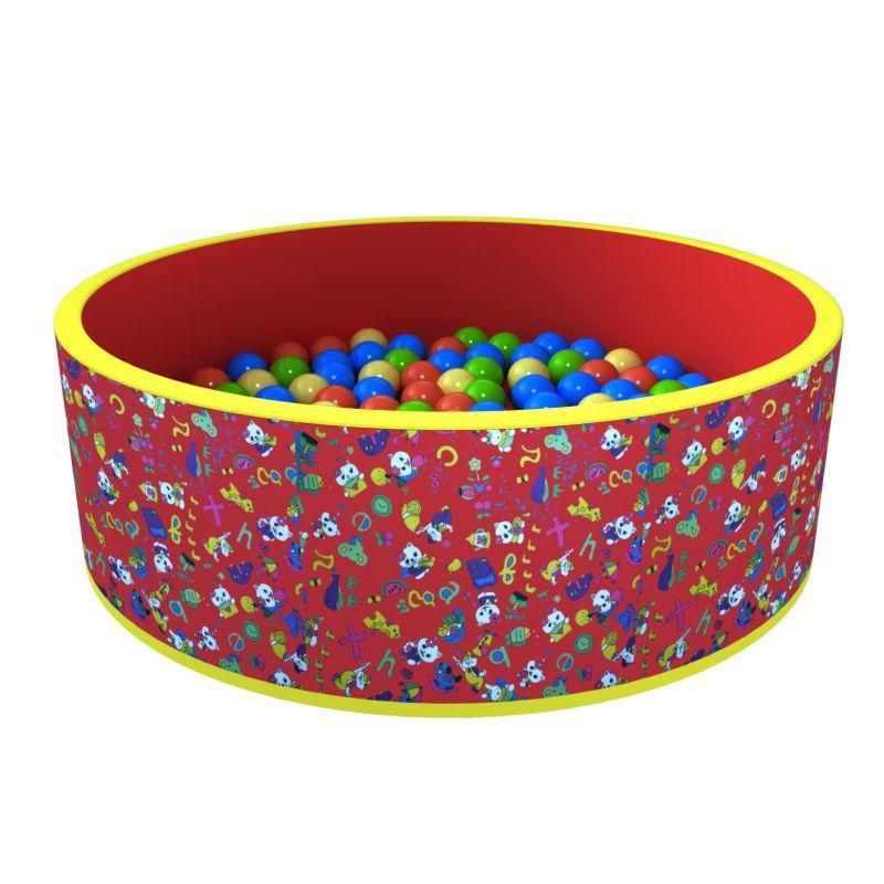 Сухой бассейн «Веселая поляна» 100 шариков (красный)