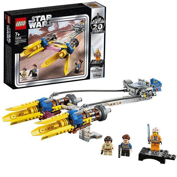 LEGO Star Wars 75258 Конструктор Лего Звездные Войны Гоночная капсула Энакина выпуск к 20-му юбилею