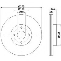 Тормозные диски Toyota Corolla Verso  (передние, 02-07, LPR, D275)