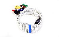 Кабель для подключения ЭКГ электродов с выносным датчиком движения/положения тела семиэлектродный