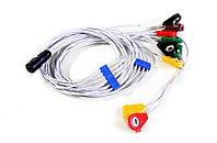 Кабель для подключения ЭКГ электродов с выносным датчиком движения/положения тела десятиэлектродный
