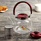 Чайник заварочный стеклянный 850 мл, фото 3