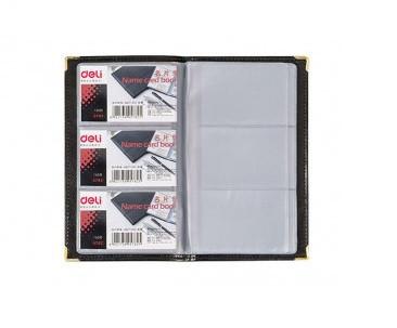 Визитница DELI на 72 визиток, PVC черная