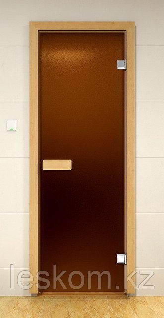 Дверь стеклянная,матовая для сауны и бани