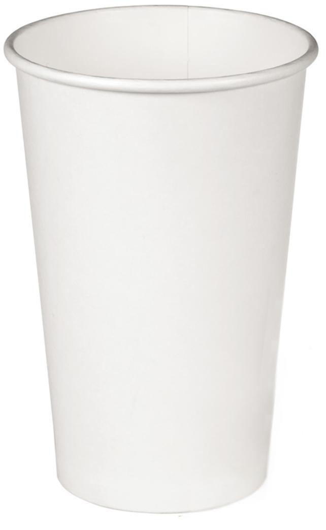 Стакан бумажный Белый для гор. напитков, 500мл