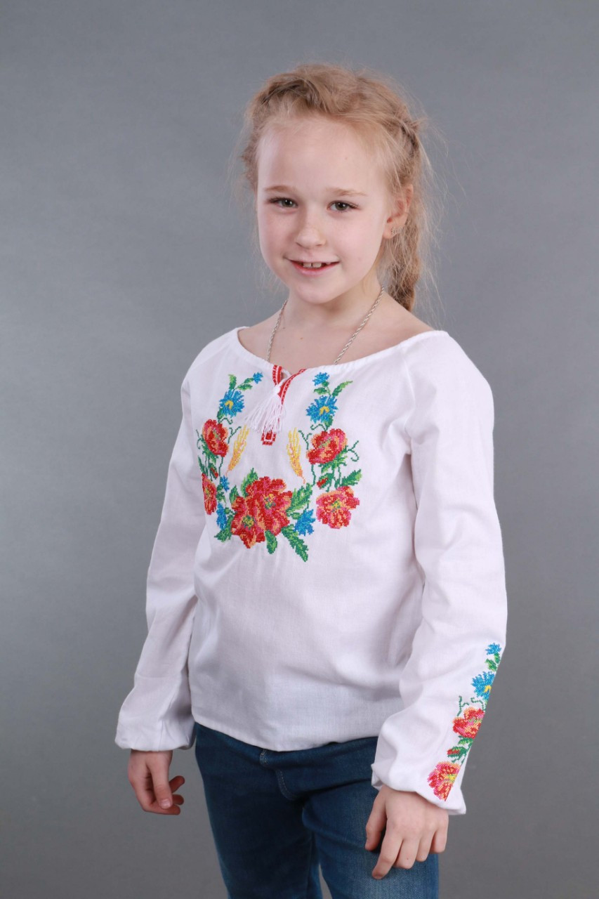 Вышиванка для девочки Веночек - фото 9