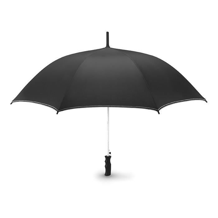Зонт SKYE. Полуавтомат. Устойчивый к ветру со стержнем из стекловолокна и черной пластиковой ручкой
