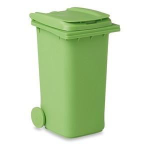 Подставка для ручек в форме мусорного контейнера. Цвет зеленый.