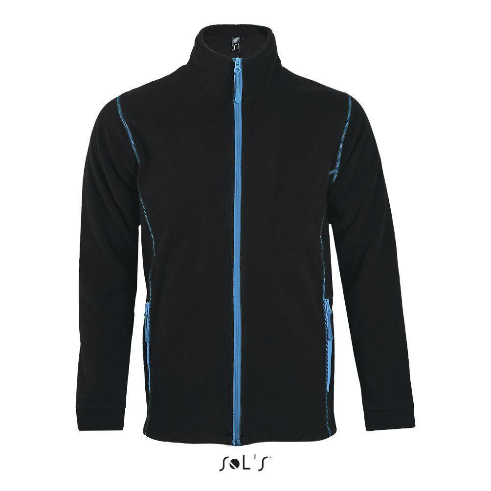 Мужская куртка NOVA,  цвет черный\голубой, размер S