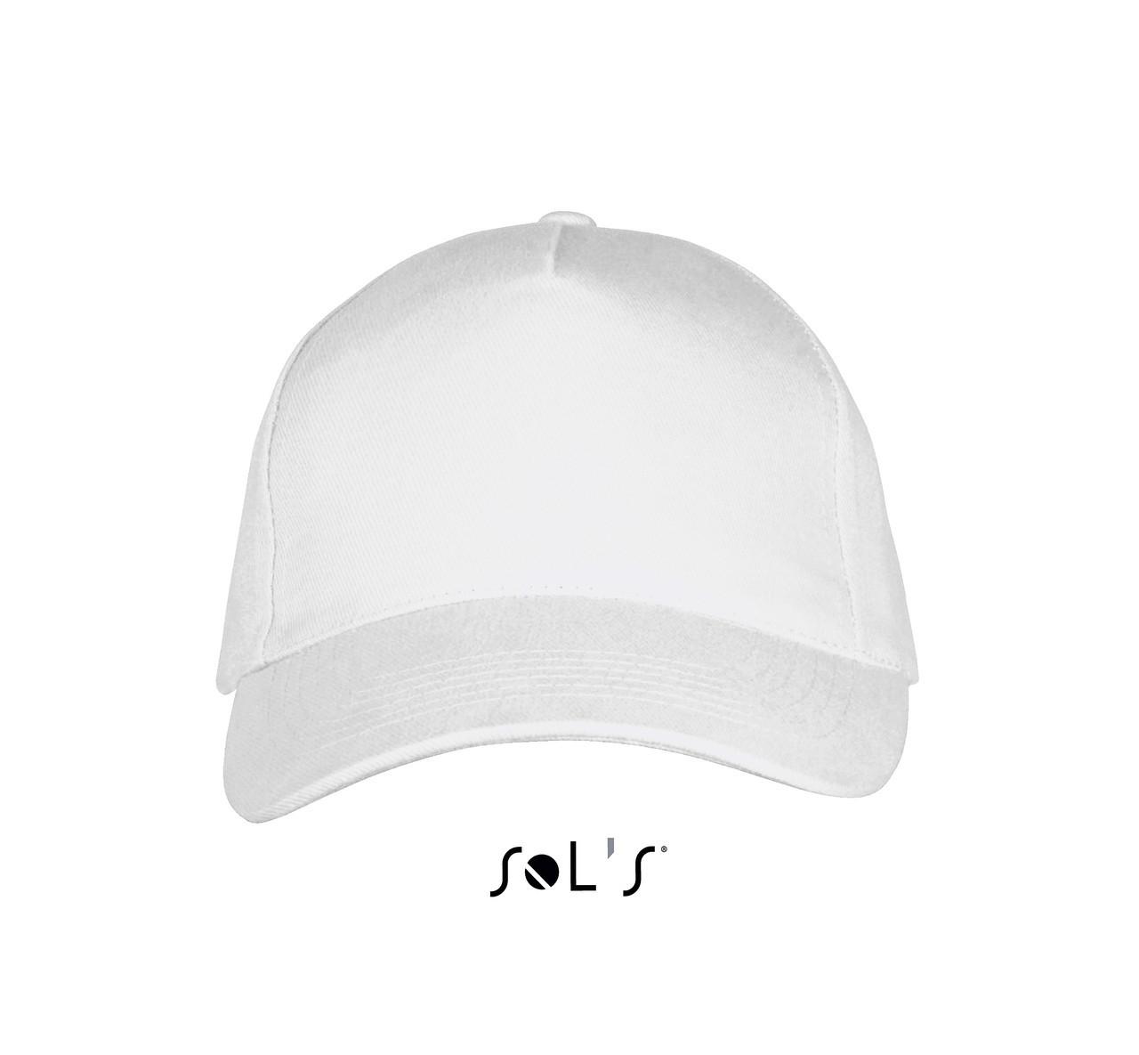 LONG BEACH кепка 5-ти панельная, цвет белый