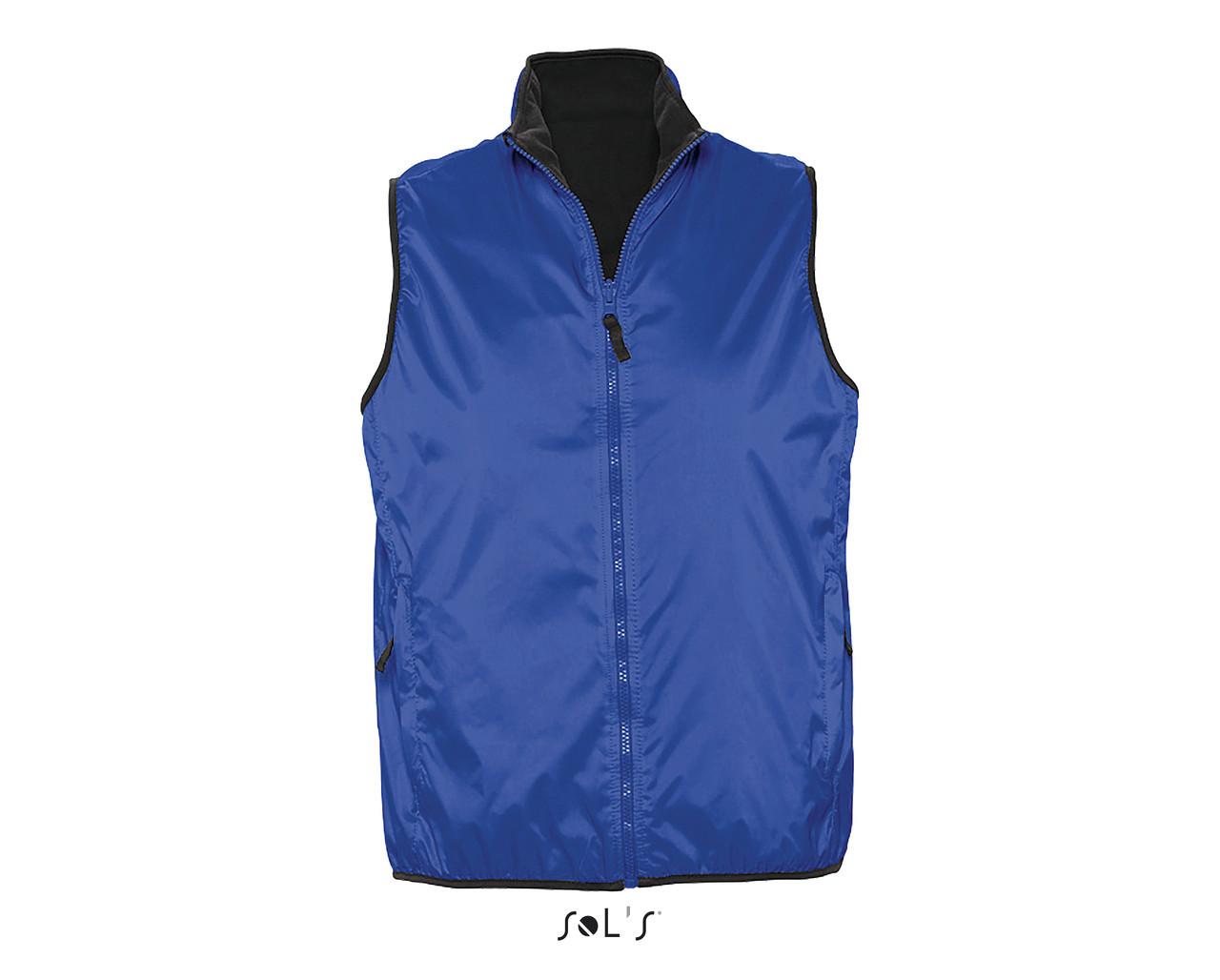 Жилет унисекс  двухсторонний, цвет синий, размер XL