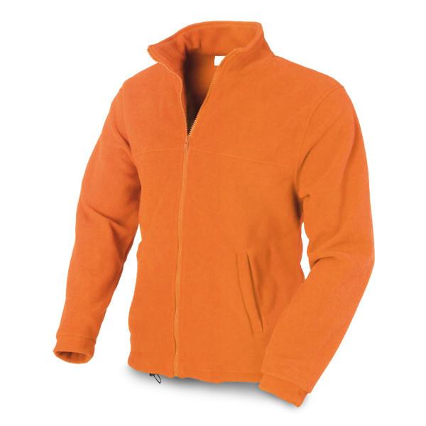 Куртка флисовая, мужская, оранжевая, размер L