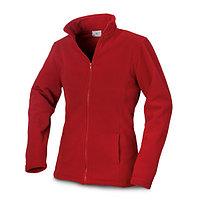 Куртка флисовая женская, цвет красный, размер L