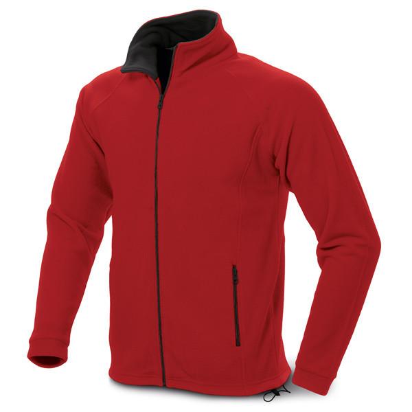 Мужская флисовая куртка, цвет красный, размер XL