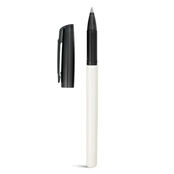 Ручка шариковая ICE с гелевыми чернилами. Цвет белый/черный