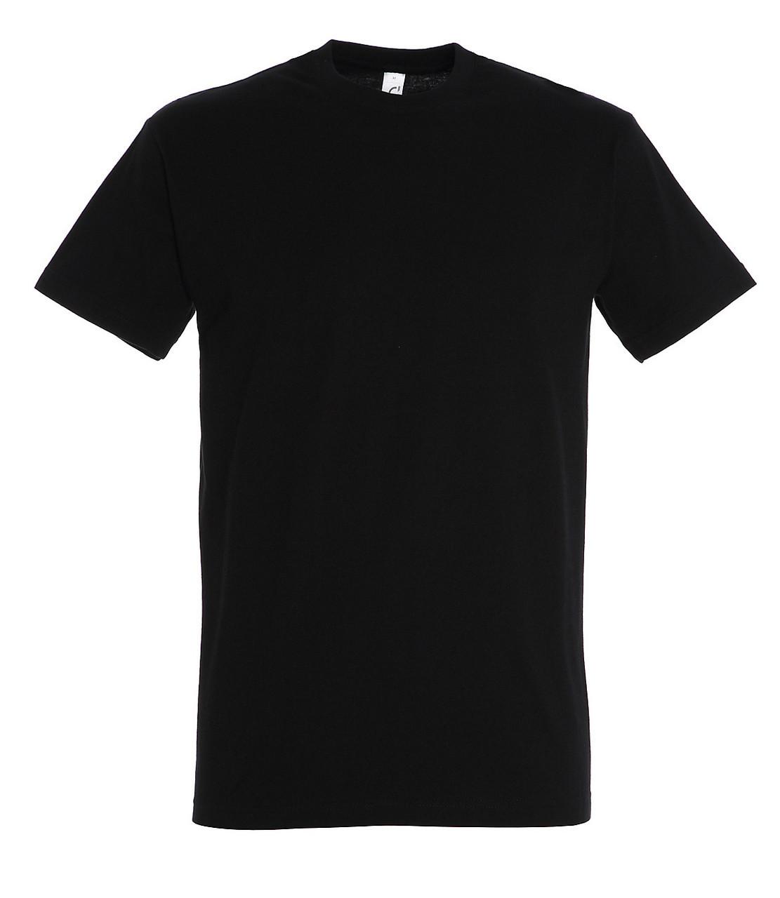 Футболка 100% хлопок, цвет черный, размер S