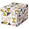 Коробка с крышкой ТЬЕНА черный, розовый ИКЕА, IKEA