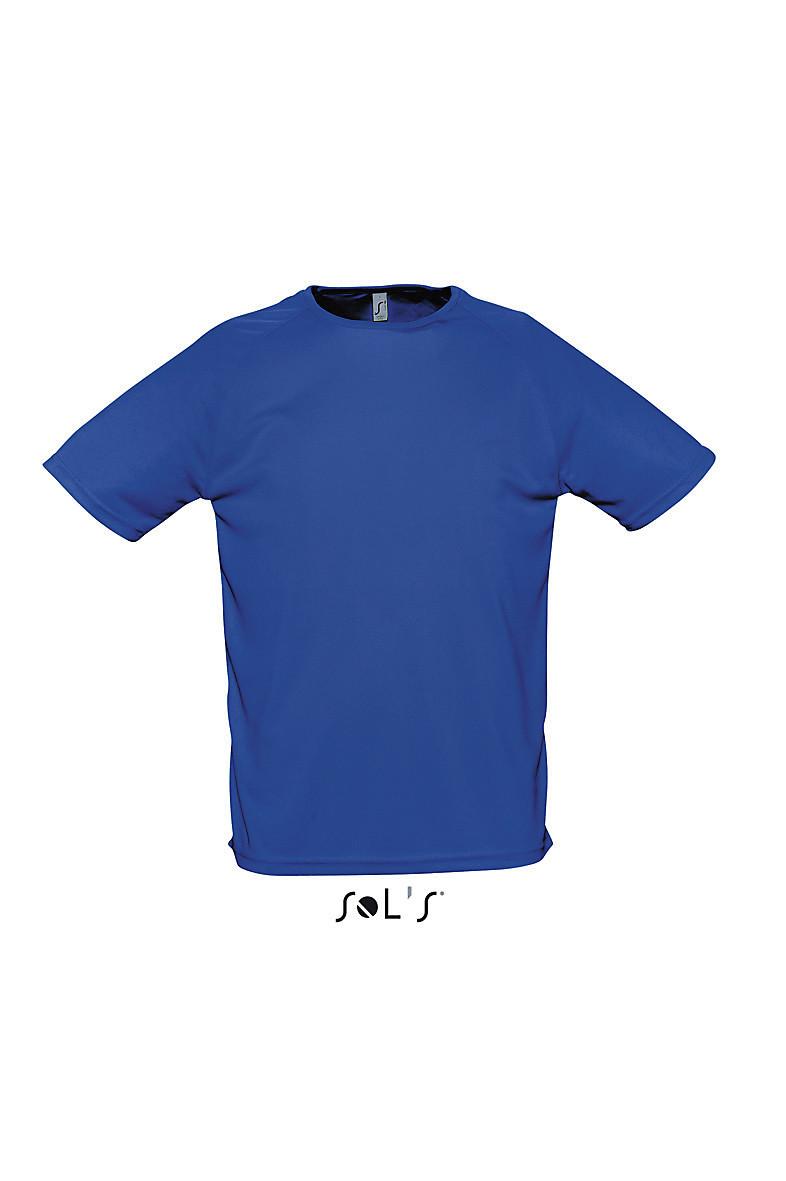 Футболка SPORTY мужская, размер S, цвет синий