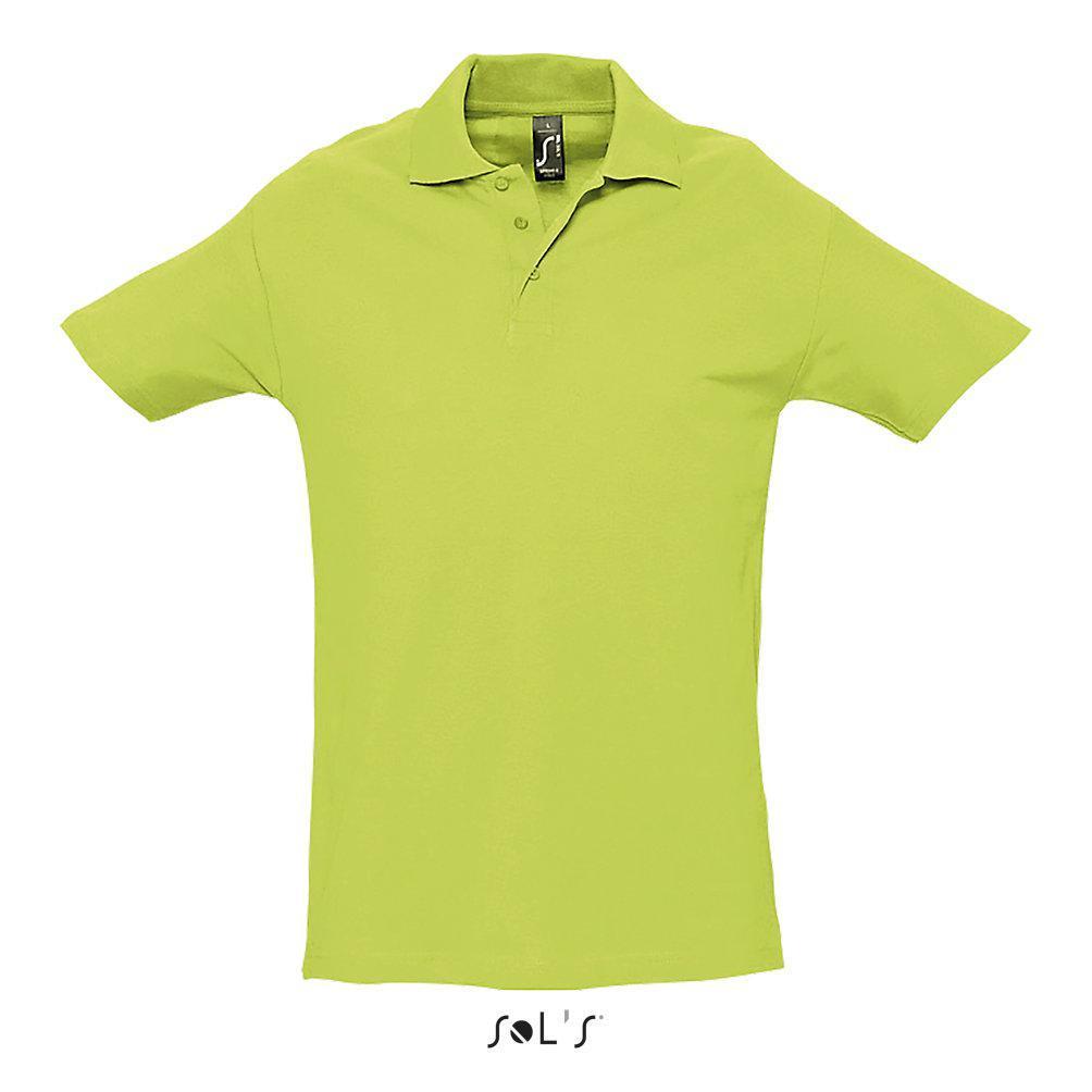 Рубашка-поло SPRING II, цвет зеленое яблоко, размер XL