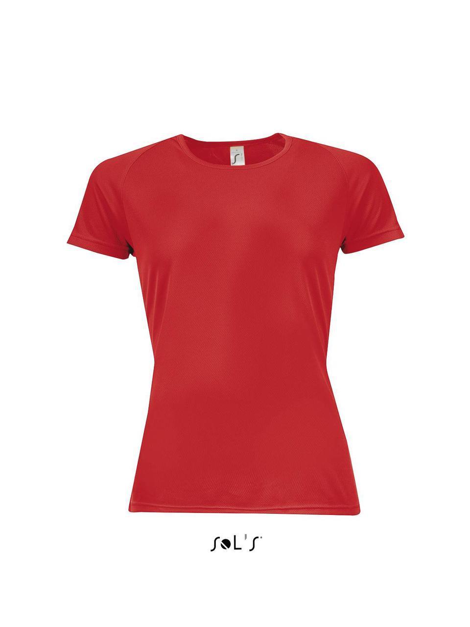 Футболка Sporty женская, размер M, цвет красный