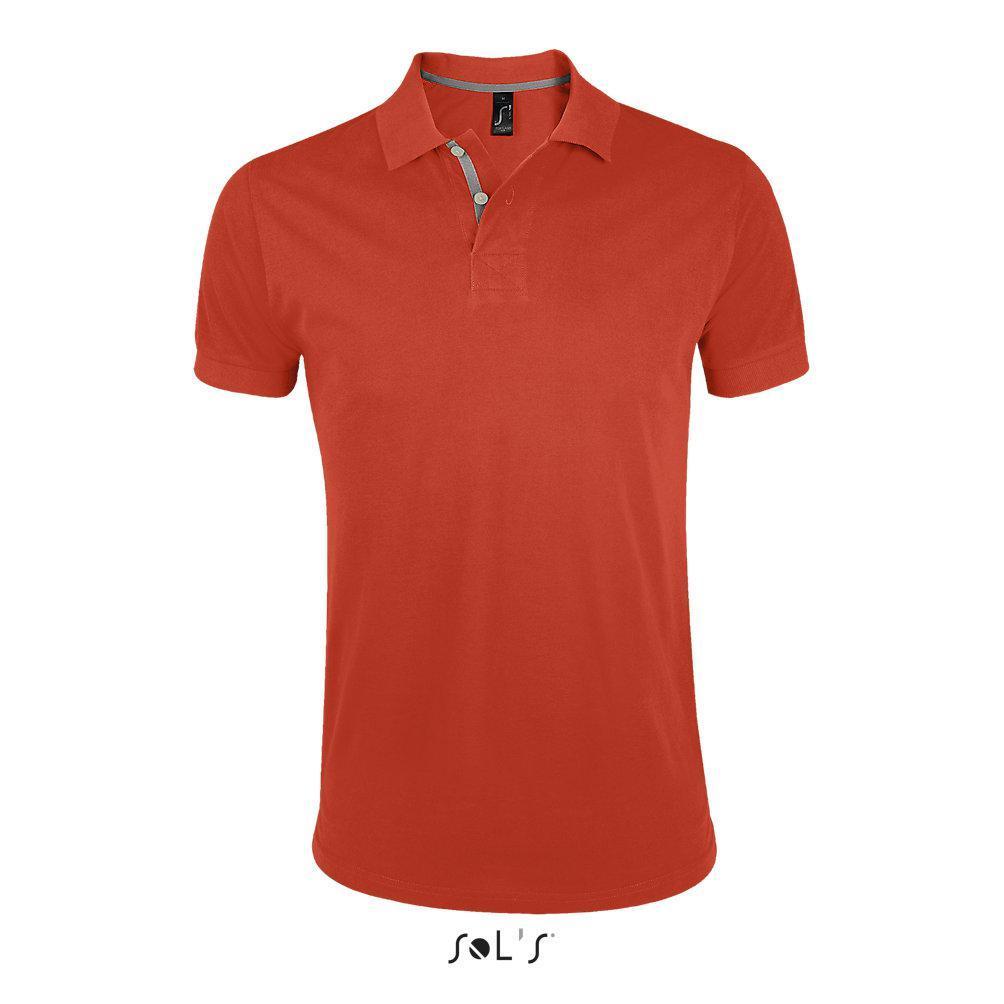 Мужская рубашка поло PORTLAND оранжевый, размер L