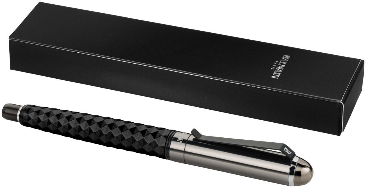 Ручка-роллер. Цвет черный/серебро