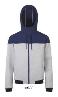 Куртка с капюшоном унисекс, цвет синий, размер М